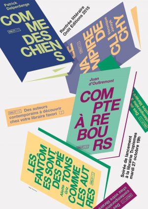 Design d'une affiche pour éditions ONLIT à Bruxelles