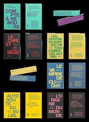Design et communication pour la maison d'édition ONLIT à Bruxelles