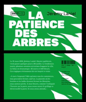 Design du livre La Patience des Arbres de Jérémy Laniel aux éditions ONLIT