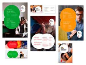 La Cité des métiers de Bruxelles identité visuelle et communication