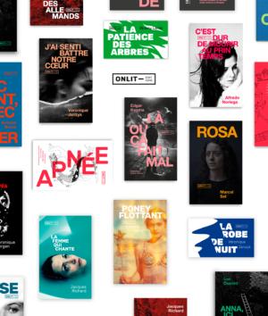 Design de couverture pour la maison d'édition ONLIT à bruxelles