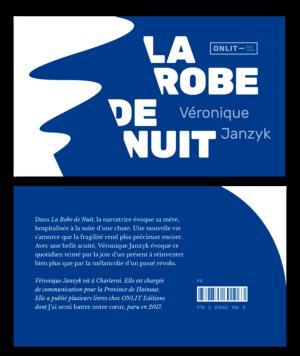 Design de la couverture de La Robe de Nuit de Véronique Janzyk aux éditions ONLIT