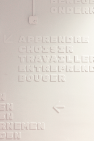 signalétique — lettrage détail