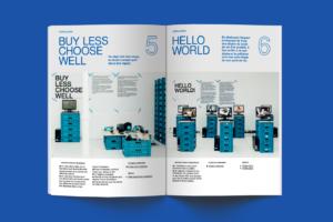 Mise en page de brochure pour exposition éco design à Bruxelles par le studio Alvin