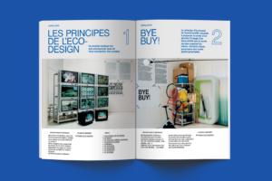 Catalogue mise en page intérieure éco design par le studio Alvin