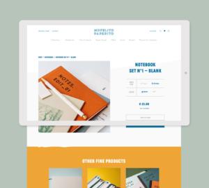 Mofelito Paperito Page Produit Shopify avec produits suggérés