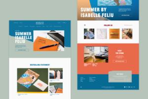 Mofelito Paperito Page d'accueil du site e-commerce Shopify par Studio Alvin