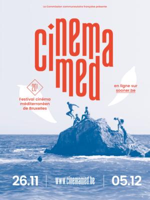 Cinémamed, identité visuelle du festival de cinéma méditerranéen à Bruxelles
